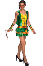 Adult Womens Michelangelo Tmnt Mutant Ninja Turtles Costume Dress Skirt ... - $56.18