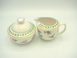 Mikasa Fashion Plate ROSE PARADE CP012 Creamer and Sugar Bowl with Lid P... - $11.97
