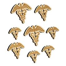 Caduceus Health Medical Symbol Wood Buttons for Sewing Knitting Crochet ... - $9.99