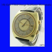 Mens Gold Omega SeaMaster Memomatic Alarm Wrist Watch 1974 - $1,786.20