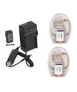 2X Batteries + Charger for Sony HDRAS100V/W HDRAS100VR/W HDRCX240/L HDRC... - $30.50