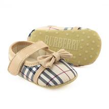 Khaki Baby Girls Dress Shoes Baby Soft Bottom Toddler Shoes B195 - $16.99