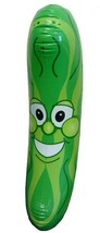 GIANT SIZE INFLATABLE 34 in GREEN PICKLE novelty toy blow up smile face ... - $6.60