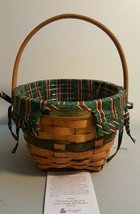 Longaberger 1994 Christmas Collection JINGLE BELL Basket Fabric Liner Pr... - $9.99
