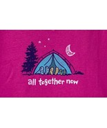 Life is Good Women's M Berry All Together Now Crusher V Neck Tent T-shirt - $23.76