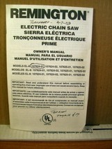 Owner's Manual Remington Electric Chain Saw Model 107624-01/02, 107625-0... - $8.99