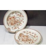 2 Antique Staffordshire Brown Transferware Rimmed Soup Bowls PERAK Aesth... - $37.62