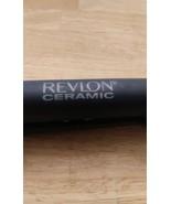 "Revlon Ceramic 1"" Flat Iron RVST2029A Hair Straightener ~ black and red - $12.87"
