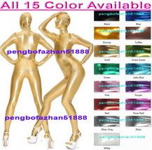 Unisex Full Body Suit Outfit 15 Color Shiny Metallic Suit Catsuit Costumes S957 - $32.99
