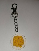 Miniature Mac N Cheese Keychain Fob Accessory Food Charms Keychain Clip On - $7.50
