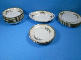Noritake Modjeska 14 Piece Lot Berry bowls, saucers, relish dish, Bread plates - $67.62