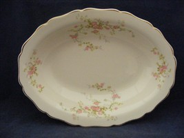 "Canonsburg Pottery Keystone Pink Roses Gold Trim 9.25"" x 7"" Oval Serving... - $29.95"