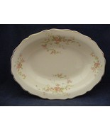 """Canonsburg Pottery Keystone Pink Roses Gold Trim 9.25"""" x 7"""" Oval Serving... - $29.95"""