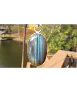 Beautiful Labradorite Stone 80 Carats Handmade SILVER PENDANT USA SELLER - $49.95
