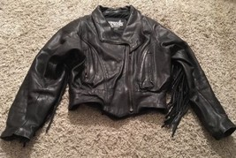 Legend Rider Wear Womens Leather Jacket With Fringes, Size XS - $150.00
