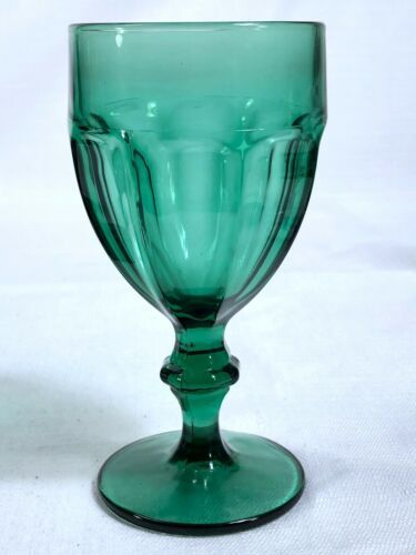 Primary image for Libbey Juniper Green Gibraltar Gibralter Duratuff Water Goblet 6-3/4""