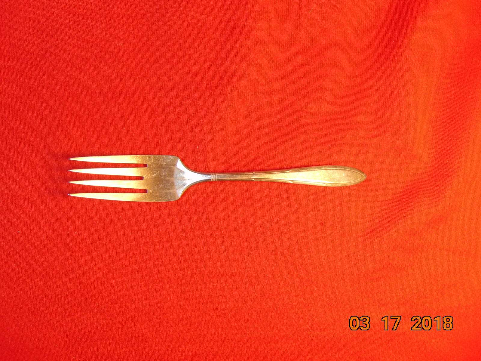 "Primary image for 6 1/4"", Silver Plated, Salad Fork, Nobility Plate/Oneida, 1937 Reverie Pattern"