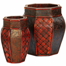 Design And Weave Panel Decorative Planters (Set Of 2) - $59.55