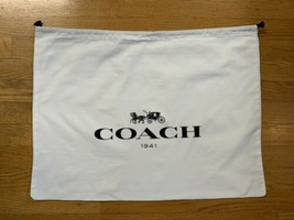 """COACH 1941 Dust Cover Bag Large With Drawstring 23""""Wx17""""H Big Logo - $29.65"""