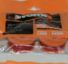 WORX WA0004 Replacement Spool Line DNA Line 2 Orange Red 10 Feet Pkg 2 .065 Size image 2