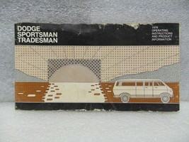 Dodge Sportsman Wagon Van VDOD100 1978 Owners Manual 16545 - $18.76