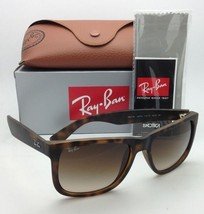 Ray-Ban Sunglasses JUSTIN RB 4165 710/13 51-16 Rubber Light Havana w/ Brown Fade - $179.95