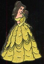 Disney Beauty and the Beast Belle in Yellow Glitter Gown with Rose pin - $14.69