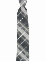John Ashford Mens Fashion Neck Tie Grid Stripe Black - $9.49