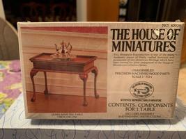 Dollhouse House of Miniatures Queen Anne Tea Table Circa 1740-1750 40039 Sealed - $19.99