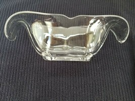 Heisey Crystal Bowl - Oval Floral Shape - $18.07