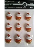 Recollections Halloween Glitter Embellished Dimensional Cupcake Stickers... - $3.99