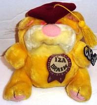 Emotions by Mattel IZ'A BRAIN Plush Yellow Cat Stuffed Animal Vintage 1983 - $8.44