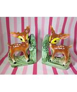 Darling Vintage Figural Doe / Deer Ceramic Bookend Set • Made in Japan •... - $44.88