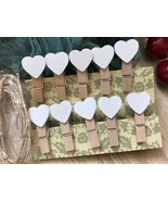 white heart clothespins,wooden clips,special gifts wedding party Decorat... - $3.90+