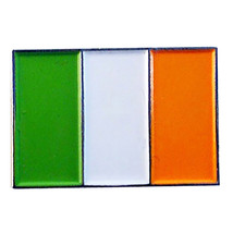 Eire, Ireland, Irish Flag Lapel Pin Badge / tie pin. in gift box enamel finish,