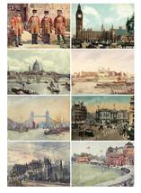 Printable Vintage London England Digital Collage Sheet  ATC  JPEG  PDF  ... - $2.50
