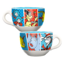 Dr. Seuss Characters Art Images Wrap-Around Design 20 oz Ceramic Soup Mu... - $12.59