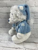 "Disney Store Exclusive Winnie The Pooh Winter White / Blue 12"" Plush Sno... - $14.23"