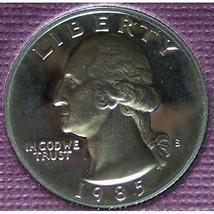 1985-S DCAM Clad Proof Washington Quarter PF65DC #375 - $3.19