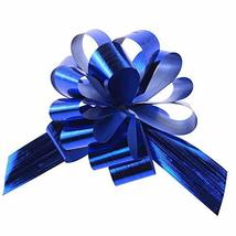 """Metallic Pull Bows for Gift-Wrapping, 2-Piece #PS_15160 (5x5"""", Royal Blue) - $9.90"""