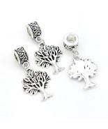 Charms 5pcs Tibetan Silver Tree Of Life Fit European Bracelet Beads - $14.99