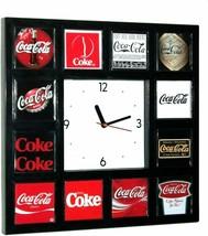Vintage Style Coke Coca-Cola Soda Pop Sign Logo History Clock - $79.95