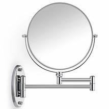 Miusco 10X Magnifying Two Sided Wall Mount Makeup Mirror, 8 inch, Round,... - $48.41