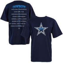 New Dallas Cowboys Gloss Stats T Shirt Navy Brand New W/ Tags - $21.99+