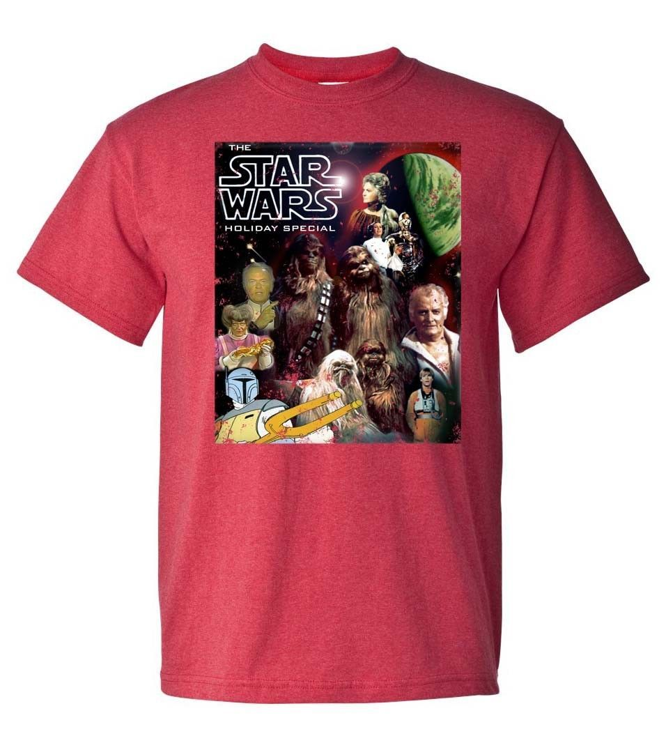 Star wars holiday special 70 s 80 s tshirt for sale online graphic tee