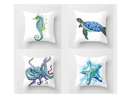 "Marine life pillow cover,18×18"",Four Ace Combination Animal Pillowcase,s... - $31.99"