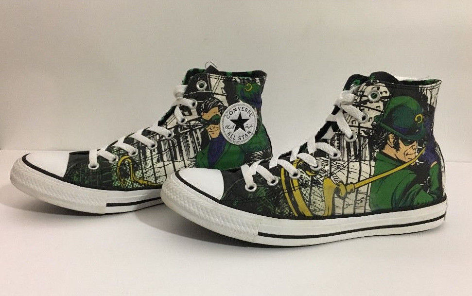 ea251064650f S l1600. S l1600. Previous. Converse The Riddler High Top Tennis Shoes  Men s sz 9 DC Comics batman