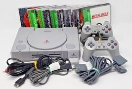 Playstation 1 PS1 Console System with 9 games, 2 controllers Memory card... - $98.99