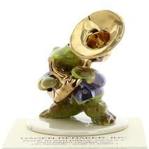 Hagen-Renaker Miniature Ceramic Frog Figurine Toadally Brass Band Tuba Player image 4