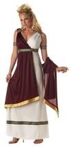 Roman Empress Burgundy Halloween Costume Adult Womans XL - $43.99